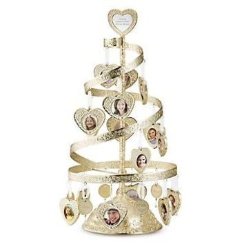 Personalized Make-A-Wish® Gold Spiral Heart Tree , Add Your Message