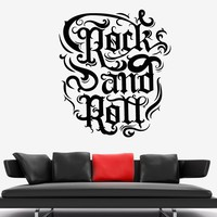 Vinyl Wall Decal Rock'n'roll Night Club Signboard Music Quote Stickers (1725ig)
