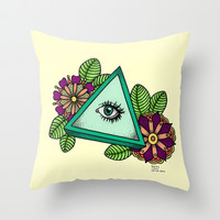 I See You △ Throw Pillow by haleyivers