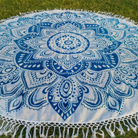 Round mandala Beach throw, roundies mandala, picnic blanket, wall tapestry, round mandala, meditation yoga boho bohemian hippie ethnic style