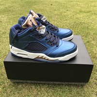 Air Jordan 5 blue Basketball Shoes 36-47
