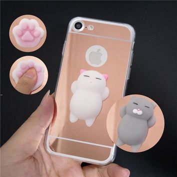 Cute Mirror Squishy 3D Cartoon Cat Kitty Bear Soft Phone Case Fo.  Compatible Samsung Model  Galaxy ... 194461a2e7