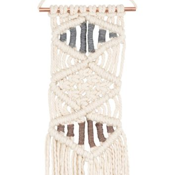 Macrame Small Triple Diamond Boho Wall Decor