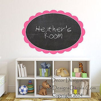 Large Monogram Chalkboard Vinyl Wall Decal