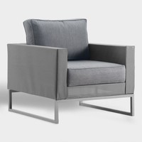 Gray Mesh Moreau Outdoor Occasional Armchair