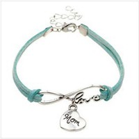 Rope Bracelet Turquoise Always Love Mom