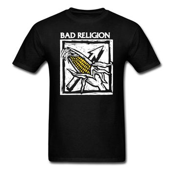 SHIRT BAD RELIGION Against the Grain T-Shirt Mens and Womens Punk Rock Band Tee (S-3XL)