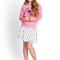 FOREVER 21 GIRLS Malibu Sweatshirt (Kids) Pink/Black