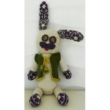 Easter Rabbit Amigurumi Bunny Crochet Toy for Kids Stuffed Cute Handmade Animal Holiday or Birthday gift CE certified REAdy to ship