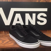 Trendsetter Vans Classic Canvas Old Skool Flat Sneakers Sport Shoes