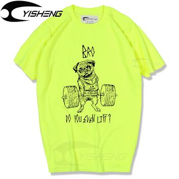 Go Hard Or Go Home Cotton Casual Pug Life Top Quality Fashion Short Sleeve Men Tshirt Men's Tee Shirts Tops Men T-shirt MT002