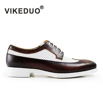 Handmade Designer Luxury Fashion Party Wedding Dance Leisure Casual Male Dress Genuine Leather Mens Derby Shoes