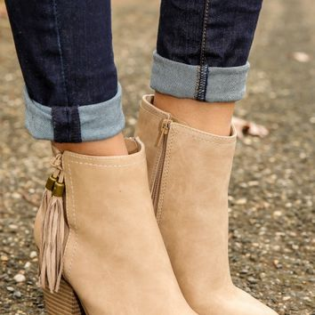 Westward Bound Bootie-Taupe
