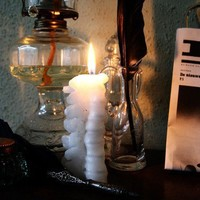 Human vertebra candle  inspired by Harry Potter by JoyceOverheul