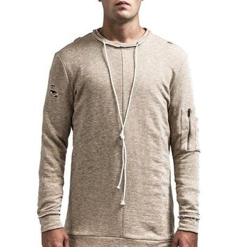 The Dean Pullover - Muted Tan