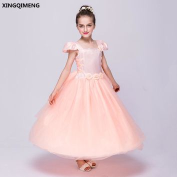 In Stock Cap Sleeve Flower Girl Dresses 3-16Y First Holy Communion Dresses for Girls Formal Dresses Tulle vestido daminha