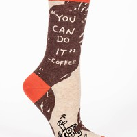 You Can Do It - Coffee Women's Crew Socks