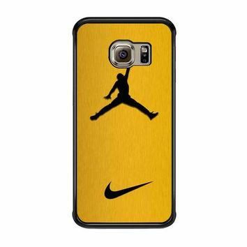 nike air jordan golden gold samsung galaxy s6 s6 edge s3 s4 s5 cases