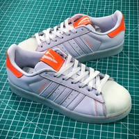Vlone X Adidas Superstar White Orange - Best Online Sale