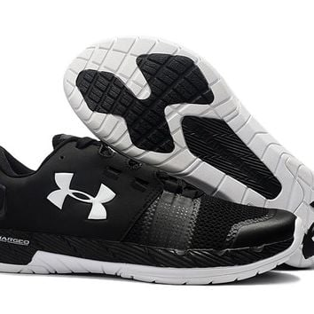 2017 Original UNDER ARMOUR UA Commit  Men Running Shoes Outdoor Sports Shoes Sneakers Charged Cushioning Running Shoes