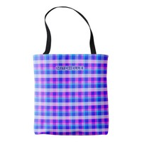 Personalized Easter Plaid Tote Bag