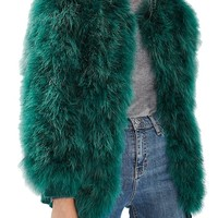Topshop Ozzy Marabou Feather Coat | Nordstrom