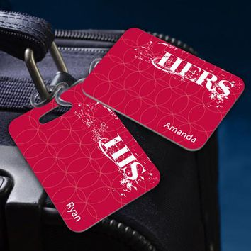 Couples Sojourn Luggage Tag - His & Hers