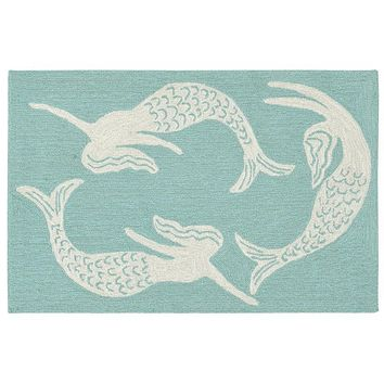 Trans Ocean Capri Mermaids Indoor/Outdoor Rug