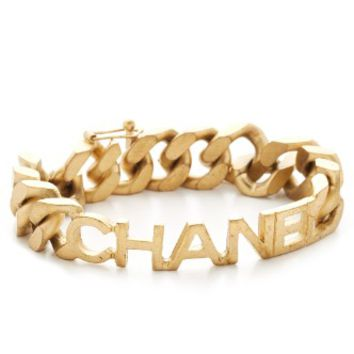 Chanel Name Plate Chain Bracelet (Previously Owned)