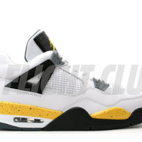 air jordan 4 retro ls - white/tour yellow-dark blue grey-black - Air Jordan 4 - Air Jordans | Flight Club