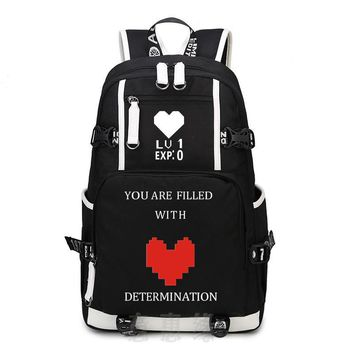 New UNDERTALE  Backpack Cosplay Anime oxford Bag Schoolbag Travel Bags
