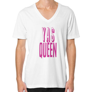 Yas Queen Pink V-Neck (on man)