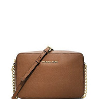 Michael Michael Kors Large Jet Set Saffiano Crossbody