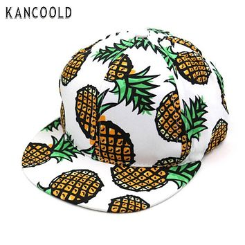 KANCOOLD New Hat Pineapple Snapback Bboy Hat Adjustable Baseball Cap Hip-hop Hat Unisex J01