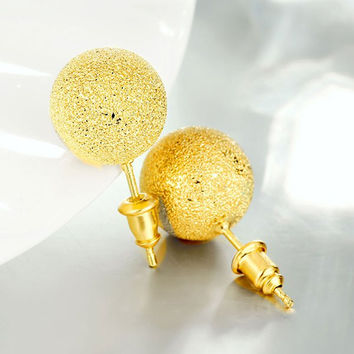 Bead Ball Embellished Stud Earrings