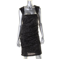 Nicole Miller Womens Sequined Sleeveless Cocktail Dress