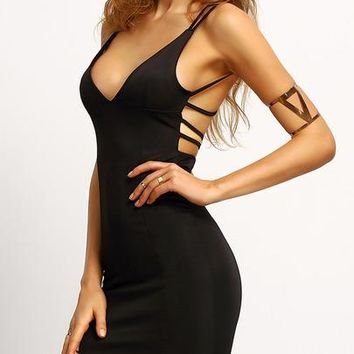 Crisscross Back Bodycon Dress