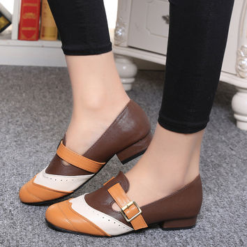 Summer Cut-Outs Low-Heeled Shoes
