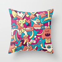 Ploon Throw Pillow by Mister Phil
