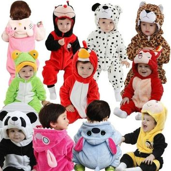 LMFUG3 Winter baby clothes new cotton flannel lining quilted cartoon animal rompers baby clothing = 1930301380