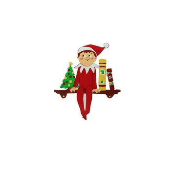 "5.75"" The Elf on the Shelf Jelz Christmas Window Cling"