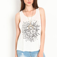 SUN AND MOON TANK TOP