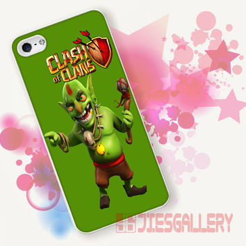 Clash Of Clans, Goblin for iPhone 4/4S, iPhone 5/5S, iPhone 5C, iPhone 6 Case - Samsung S3, Samsung S4, Samsung S5 Case