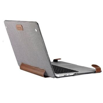 "Leather and Plaid Hybrid 13"" Macbook Case"
