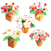 DIY Craft Kits 3D EVA Foam Flowerpot Home Decoration Kids Child Craft Novelty Handmade Flowerpot Early Education Toy Set