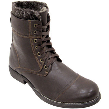 Faranzi Teddy FB4789 Men's Vegan Combat Boots (black)