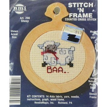 Sheep - Stitch 'N Frame - Counted Cross Stitch Kit - NeedleMagic