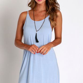 The Highs & The Lows Tank Dress Blue