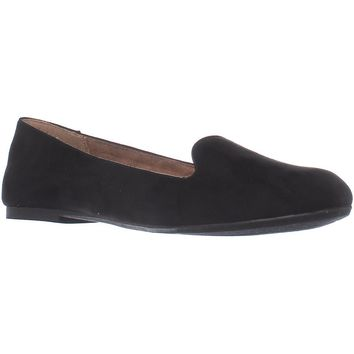SC35 Alysonn2 Loafer Ballet Flats, Black, 8.5 US