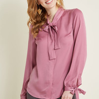 Positive Professionalism Button-Up Top in Orchid